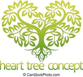 hart, concept, boompje