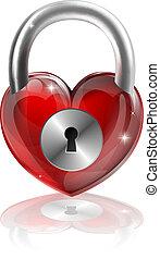 hart, concept, gesloten