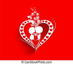 hart, dag, achtergrond, valentijn