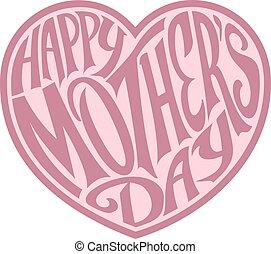 hart, dag, moeders