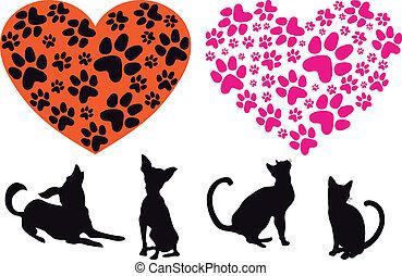 hart, dier, rood, foodprint