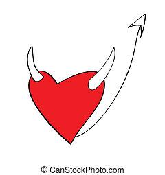 hart, duivel, stripfiguren