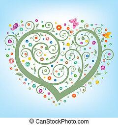 hart, floral