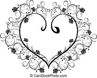 hart, flourishes, frame