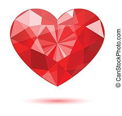 hart gedaante, diamant