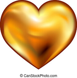 hart, goud