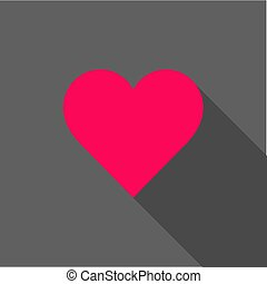 hart, helder, vector, schaduw