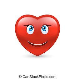 hart, het glimlachen