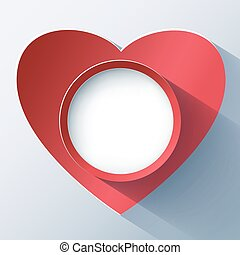 hart, kaart, frame, valentines dag, 3d