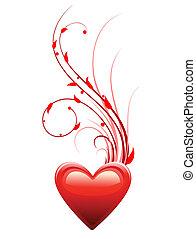 hart, liefde, dag, achtergrond, valentijn