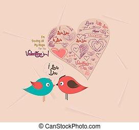 hart, paar, dag, valentijn