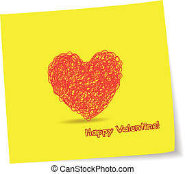 hart, penc, begroetenen, valentijn