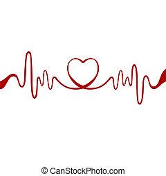 hart, rood lint