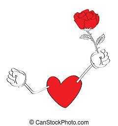hart, stripfiguren, valentijn