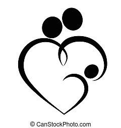 hart, symbool, gezin