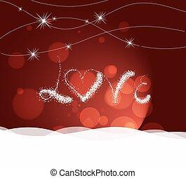 hart, valentijn, liefde, dag, licht
