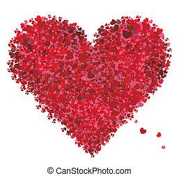 hart, valentijn, liefde, vorm