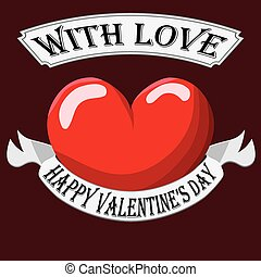 hart, valentijn, meldingsbord