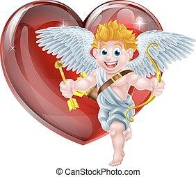 hart, valentines, cupido