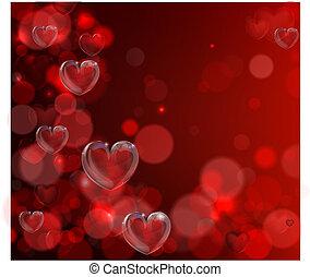 hart, valentines dag, achtergrond