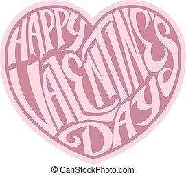 hart, valentines, ontwerp, dag, vrolijke
