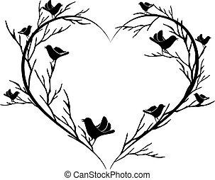 hart, vogels