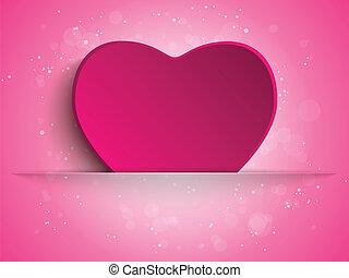 hart, vrolijke , dag, achtergrond, moeder