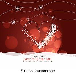 hart, vrolijke , ligh, dag, valentijn