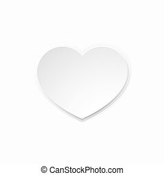 hart, witte , papier, valentines