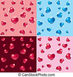 hartjes, achtergronden, valentijn