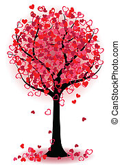 hartjes, boompje, valentijn