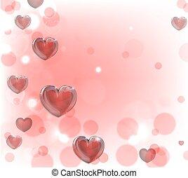 hartjes, valentines dag, achtergrond