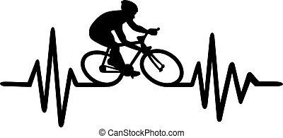 hartslag, cycling, pols