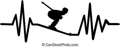 hartslag, ski, pols