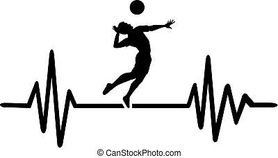 hartslag, volleybal, pols