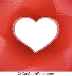 heart., valentine, achtergrond, witte , dag, rood