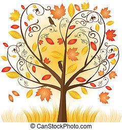 herfst, boompje, mooi