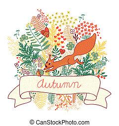 herfst, kaart
