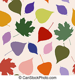 herfst, model, bladeren, floral, seamless
