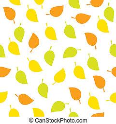 herfst, model, bladeren, seamless