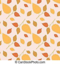 herfst, model, bladeren, seamless, wonderbaar