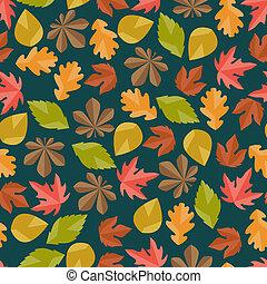 herfst, model, seamless, leaves.
