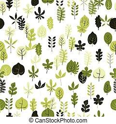 herfst, model, vector, seamless, leaves.