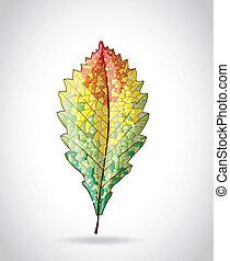 herfstblad, kleurrijke