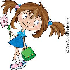 het glimlachen meisje