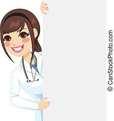 het gluren, vrouwtje arts
