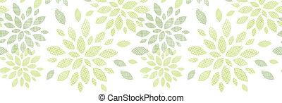 het patroon van de stof, bladeren, seamless, achtergrond, textured, horizontaal, abstract