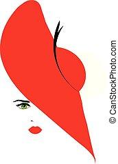 hoedje, meisje, rood