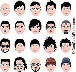 hoofd, hairstyle, gezicht, haar, mannelijke , man