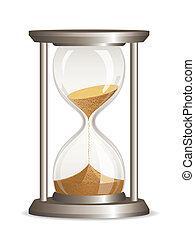 hourglass, vector